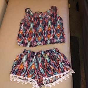 Multicolor shorts set
